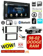 98-02 DODGE RAM CAR STEREO COMBO, BLUETOOTH TOUCHSCREEN DVD AM/FM AUX USB/SD