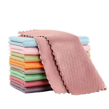 3pcs Household Supplies Fish Scale Microfiber Polishing Cleaning Cloths Useful