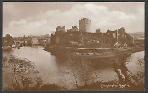 Postcard Pembroke Castle Pembrokeshire Wales early RP by D Davies