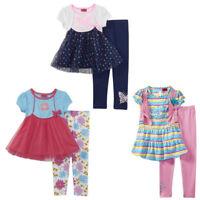 New Twirl Toddler Girls' Dress & Leggings 2 Pc Set  Butterflies/Flowers NWT