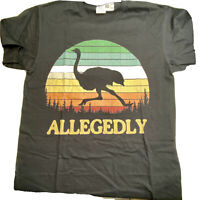 Allegedly Ostrich Letterkenny Flightless Bird Lovers Black Men's T-Shirt Medium