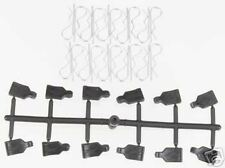 Pro Pulls for 1/10 Cars (12) & Body Clips (20) W/ Pull tabs PRO605001