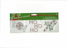 Iron-On Rhinestones Applique Ho Ho Ho Sewing Fabric  Embellishment Christmas