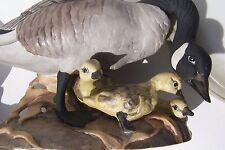 BOEHM PORCELAIN CANADA GEESE #408 PAIR FIGURINES GANDER GOOSE GOSLINGS BIRDS HTF