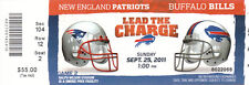 2011 NFL PATRIOTS @ BILLS FULL UNUSED FOOTBALL TICKET