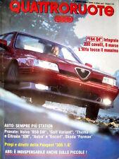 Quattroruote 457 1993 Alfa 164 Q4. Prova Volvo 850 SW e Golf Variant. Astra Q102