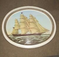 Vintage Clipper Ship Flying Cloud Tin Tray Sunshine Biscuits advertisement...