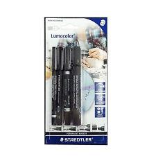 Staedtler 60 Bk Lumocolor Permanent Marker Set With Different Tips Set of 4in