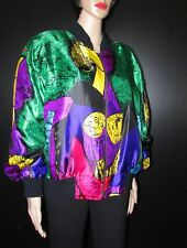 BEAUTIFUL  UNISEXE ABSTRACT  PICASSO MULTICOLOR BOMBER VEST OR JACKET  ONE SIZE