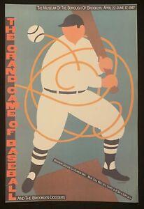 Grand Game of Baseball Seymour Chwast Lithograph 1987 Poster Push Pin Studio