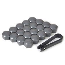 Wheel Lug Nut Bolt Center Cover Gray Caps & Tool for VW Audi Skoda 17mm 20PCS