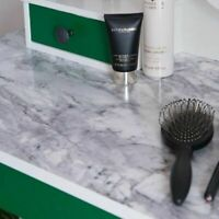 1m X90cm ROMEO GLOSSY BLACK WHITE SELF ADHESIVE MARBLE STICKY BACK PLASTIC VINYL