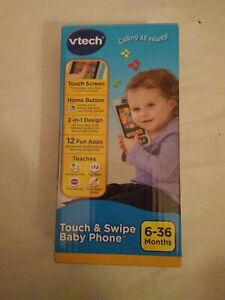 VTech Touch and Swipe Baby Phone, Blue New - Sealed