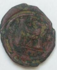 *E 1700. Justinian I Follis of Antioch Theoupolis Byzantine Coin 533-537 AD