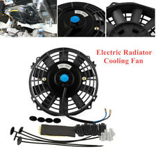80W 12V Car Auto Truck Electric Radiator Cooling Fan Kit 7 Inch Black Plastic