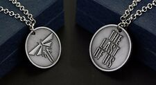 The Last of Us Left Behind Symbol Logo Medallion Metal Pendant & Chain Necklace