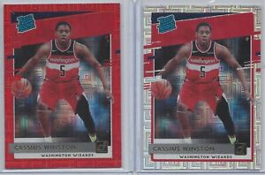 Cassius Winston 2020-21 Donruss Choice Rated Rookie Lot - Red 35/99 & Silver