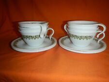 Set of 6 Corelle Corning Crazy Daisy Spring Blossom Stackable Hook Cup & Saucer