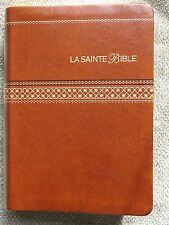 French Bible LARGE PRINT Compact, Louis Segond 1910,Imitation Leather, Brown