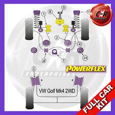 VW Golf Mk4 2WD (1997 - 2004) Powerflex Completo Kit Boccole