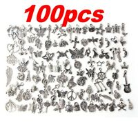 Lots 100pcs Bulk Tibetan Silver Mix Charm Pendants Jewelry Making DIY Craft Xmas