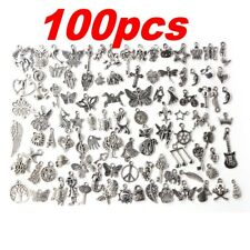 Wholesale 100pcs Bulk Lots Tibetan Silver Mix Charm Pendants Jewelry DIY NEW