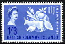 "Solomon Islands 109, MNH. FAO. ""Freedom from Hunger"" campaign. Protein Food,1963"