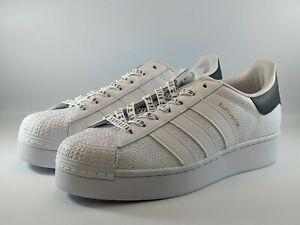 Adidas Originals Superstar Bold Shoes White Black FV3443 Sz 9.5 NWT