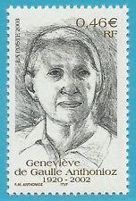 Frankreich aus 2003 ** postfrisch MiNr.3683 - Gaulle Anthonioz, Schriftstellerin
