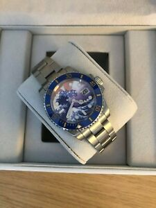 Men's Blue Watch, Automatic Movement With Ceramic Bezel + Watch Box - RRP £399