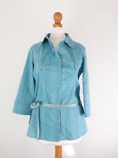 Kiabi Women Shirt Size 38 (UK10) Duck Egg Blue Green 3/4 Sleeve