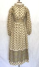 VTG 70s Boho Bohemian Country Hippie Maiden Festival Maxi Dress Jewel Print S