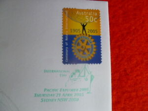 2005 CENT  ROTARY INT P&S FDC  GREEN  PACIFIC EX  INTERNATIONAL DAY POSTMARK