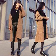 Fashion Women's Windbreaker Outwear Warm Wool Slim Long Coat Jacket Trench Parka