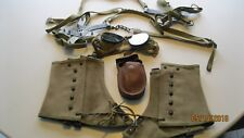Original US Army WW2 10th Mountain Division Goggles,Leggings & Snow Cleats
