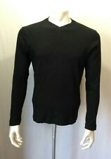 Mexx Boys Long Sleeve Size XL Black V Neck Ribbed Cotton Pullover Shirt