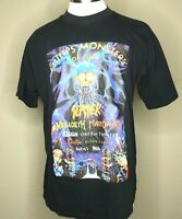 Vtg Original Monsters Of Rock T-shirt 1998 Slayer Megadeath Manowar Saxon Large