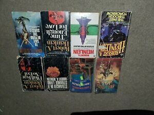 Lot of 8 Science Fiction Books by Author Robert A. Heinlein...PB's, some vintage