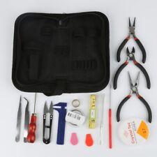 Jewelry Making Kit Repair Tools Set Plies Scissor Beading Tweezers With Pouch