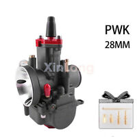 28mm PWK Flatslide Power Jet Carburetor  Carb for KOSO OKO MOPED SCOOTER PIT