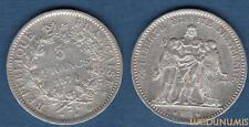III République , 1871-1940 5 Francs Hercule 1874 A Paris TB TTB
