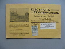 LUXEMBOURG, ill. card 1907atmospheric electricity, energy