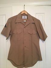 DSCP USMC Men's short sleeved khaki shirt. Size 15 1/2