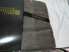 New Creswick Woolen Mills Cashmere and Lambswool Throw Blanket - Dark Brown NIP