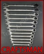 Craftsman Hand Tools 12pc Full Polish Sae 72 Tooth Ratcheting Box Wrench Set