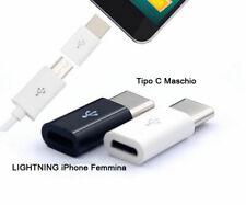 Adattatore adapter da 8 PIN IPHONE FEMMINA a Type Tipo C cavo Maschio