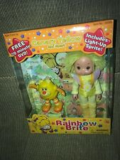New 2003 Rainbow Brite Canary Yellow Doll & Light Up Spark Sprite + DVD ***
