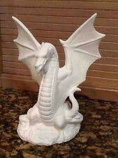 """Ready to Paint Ceramic Bisque Small Grand Dragon 9"""" tall U-paint"""
