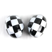 Checkered Flag Mirror Covers Caps For MINI Cooper R55 R56 R57 R58 R59 R60 R61