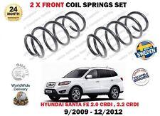FOR HYUNDAI SANTA FE CM 2.0 2.2 CRDI 2009-12/2012 NEW 2 X FRONT COIL SPRINGS SET